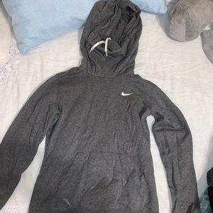 Grey nike hoodie sweatshirt